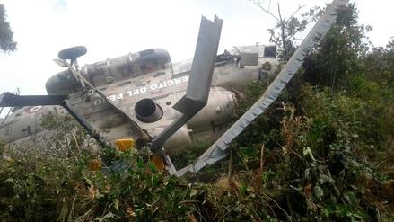 Helicóptero del Ejercitó cayó en la sierra de Piura cuando llevaba ayuda humanitaria
