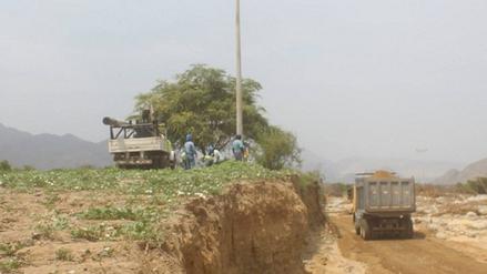 Virú: habilitan vías afectadas por huaicos, lluvias y desbordes de río