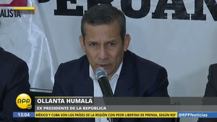 "Humala: ""No es posible que Alan García no supiera de las interceptaciones"""