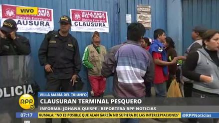 Cierran por insalubre el terminal pesquero de Villa María del Triunfo