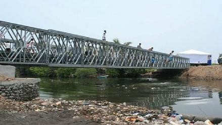 Llega a Cañete estructura para instalación de puente Bailey