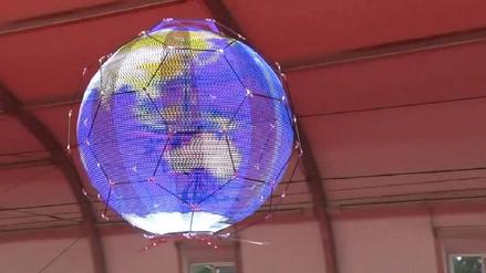 El futuro de las pantallas LED, redondas y flotantes