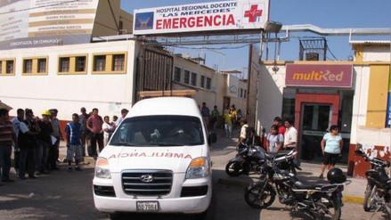 Chiclayo: presunto delincuente intentó fugar de hospital Las Mercedes