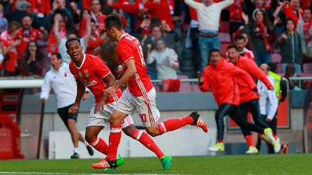 André Carrillo participó en la victoria del Benfica