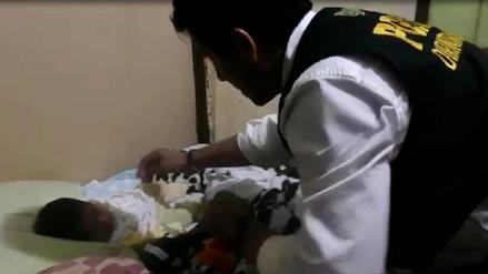 La Policía rescató a bebé que fue vendido por su madre por 350 soles