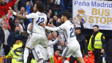 Real Madrid venció al Valencia con un agónico golazo de Marcelo