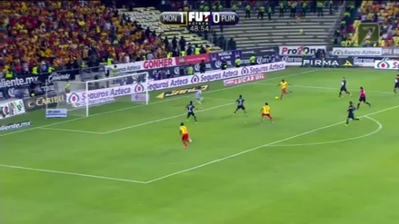 Andy Polo anotó un golazo de 'tres dedos' para el Morelia ante Pumas