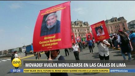 Movadef marchó durante el Primero de Mayo en apoyo a Sendero Luminoso