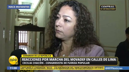 Chacón pide citar a Basombrío al Congreso por la marcha prosenderista