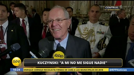 """PPK sobre ministro Nieto: """"A mí no me sigue nadie, pero de repente a él sí"""""""