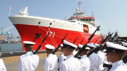 """Buque oceanográfico B.A.P. """"Carrasco"""" se incorporó a la Marina de Guerra del Perú"""