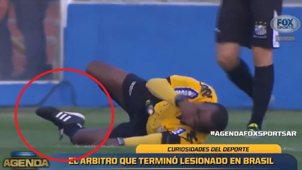 Arbitro brasileño sufrió una escalofriante lesión en pleno partido