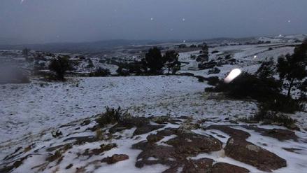 Bajas temperaturas y nevadas ya aquejan provincias de Ayacucho