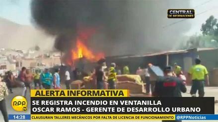 Un incendio afectó a familias de asentamiento humano en Ventanilla
