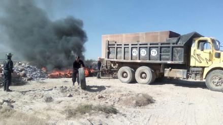 Recicladores quemaron llantas ocasionando contaminación en Arequipa