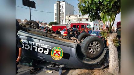 Callao: Choque entre patrullero y auto deja 2 policías heridos en La Perla