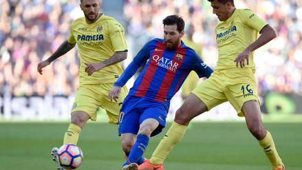 Lionel Messi anotó un golazo tras realizar su clásica jugada ante Villarreal