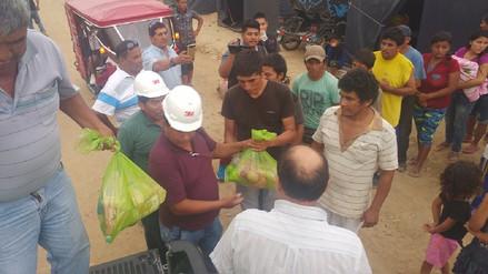 Mineros artesanales de Arequipa llevaron alimentos a damnificados de Jayanca y Pacora