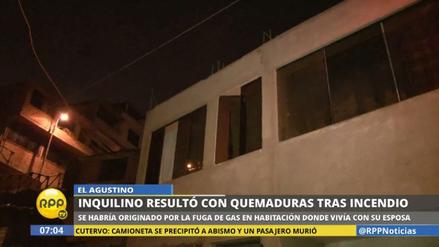 Una persona sufrió graves quemaduras en un incendio en El Agustino