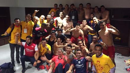 La eufórica celebración de los jugadores del Morelia en los vestuarios
