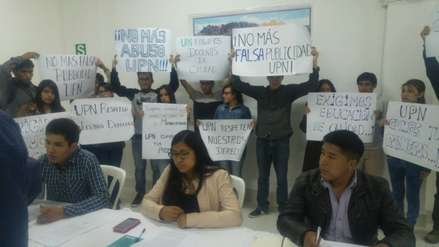 Alumnos de Ingeniería Geológica exigen a UPN profesores de calidad