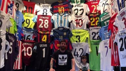 La increíble colección de camisetas que tiene Lionel Messi en su casa