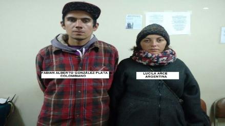 """Intervinieron a dos extranjeros por """"pintar"""" piso de avenida El Sol"""
