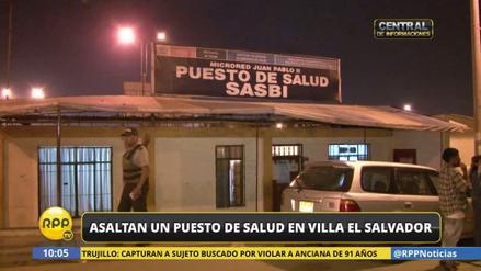 Delincuentes asaltaron un puesto de salud de Villa El Salvador