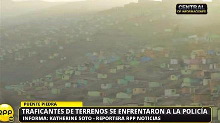 Enfrentamientos entre invasores de terrenos en Puente Piedra