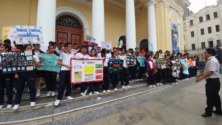 Escolares realizan jornada de sensibilización contra el dengue