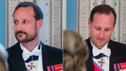 El príncipe de Noruega apareció con y sin barba en la misma cena