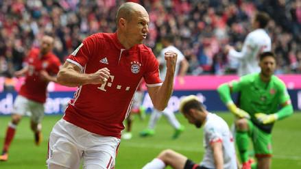 El agónico gol de Arjen Robben que le dio el triunfo al Bayern Múnich