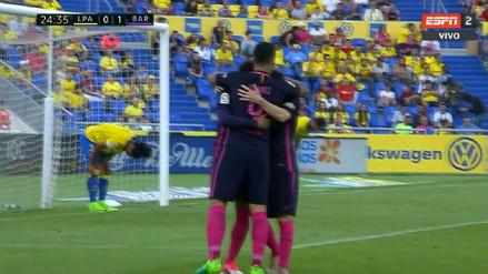 La gran jugada colectiva que acabó en gol de Neymar