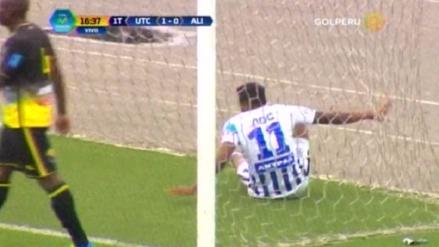 Lionard Pajoy se perdió una ocasión de gol frente al arco para Alianza