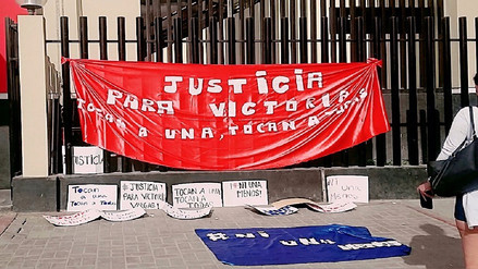 Chiclayo: familiares de joven agredida protestan en la fiscalía