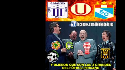 Los principales equipos del fútbol peruano son víctimas de divertidos memes