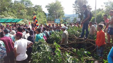 Realizan paro de 48 horas en Lamas exigiendo agua y desagüe