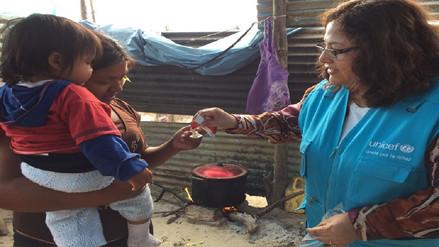 UNICEF apoya en reducir desnutrición en zonas de emergencia en Piura