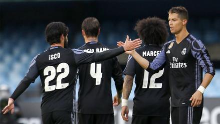 Real Madrid derrotó al Celta y ya acaricia la Liga de España