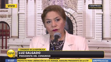 """Luz Salgado: """"La posibilidad de la censura no se descarta"""""""