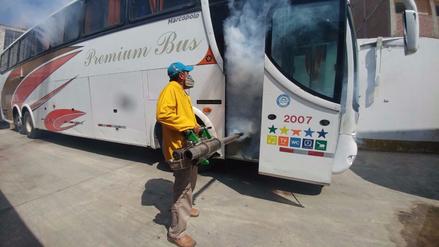 Chiclayo: inician fumigación contra el dengue en terminales terrestres