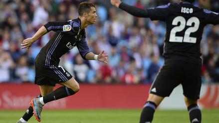 Cristiano Ronaldo metió un gol que dejó petrificado al arquero del Celta