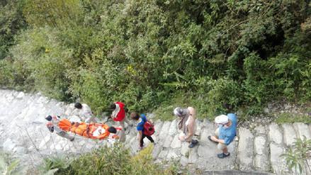 Turista resultó herido tras resbalar  en vía peatonal de Machu Picchu