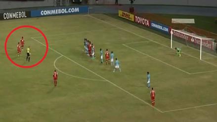 Sporting Cristal recibió un golazo de tiro libre ante Santa Fe en la Copa