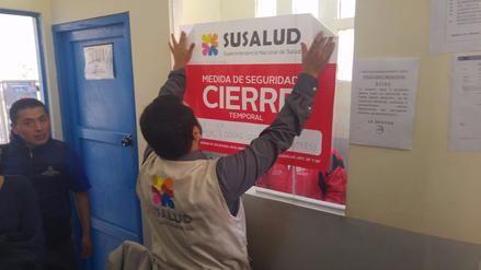 Clausuran centro médico de la municipalidad de Cusco
