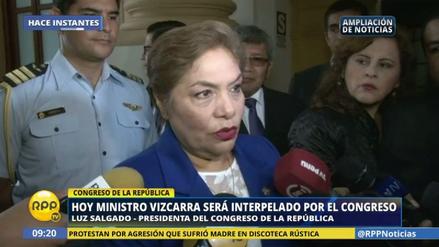 """Luz Salgado sobre interpelación a Vizcarra: """"No hay ánimos de venganza"""""""