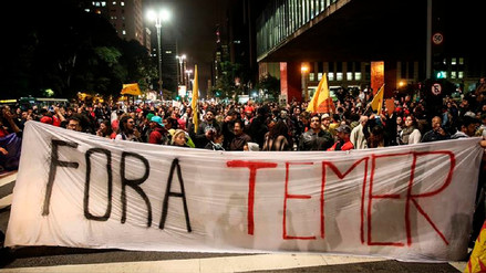 Brasileños marchan y piden renuncia de Michel Temer tras escándalo por sobornos