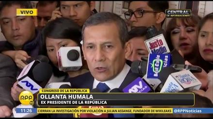 """Humala: """"Me solidarizo con las víctimas de la guerra interna, de los dos bandos"""""""