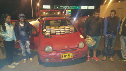 Detienen a colombianos con más de 20 kilos de marihuana