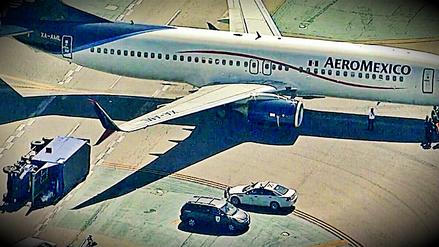 Ocho heridos tras choque de avión y camión de abastecimiento en EE.UU.
